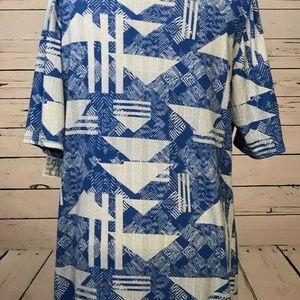 NWT LulaRoe Plus Size 2XL Fitted Dress Geometric